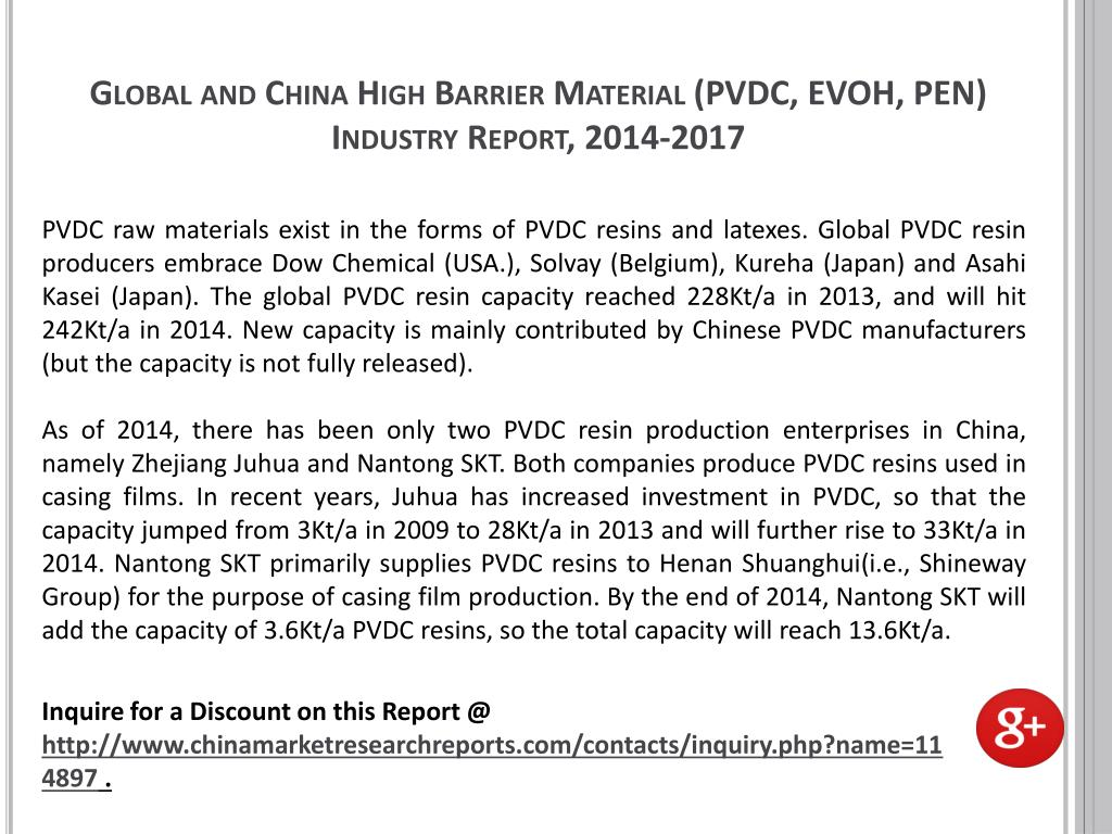 PPT - High Barrier Material Industry (PVDC, EVOH, PEN) Global and