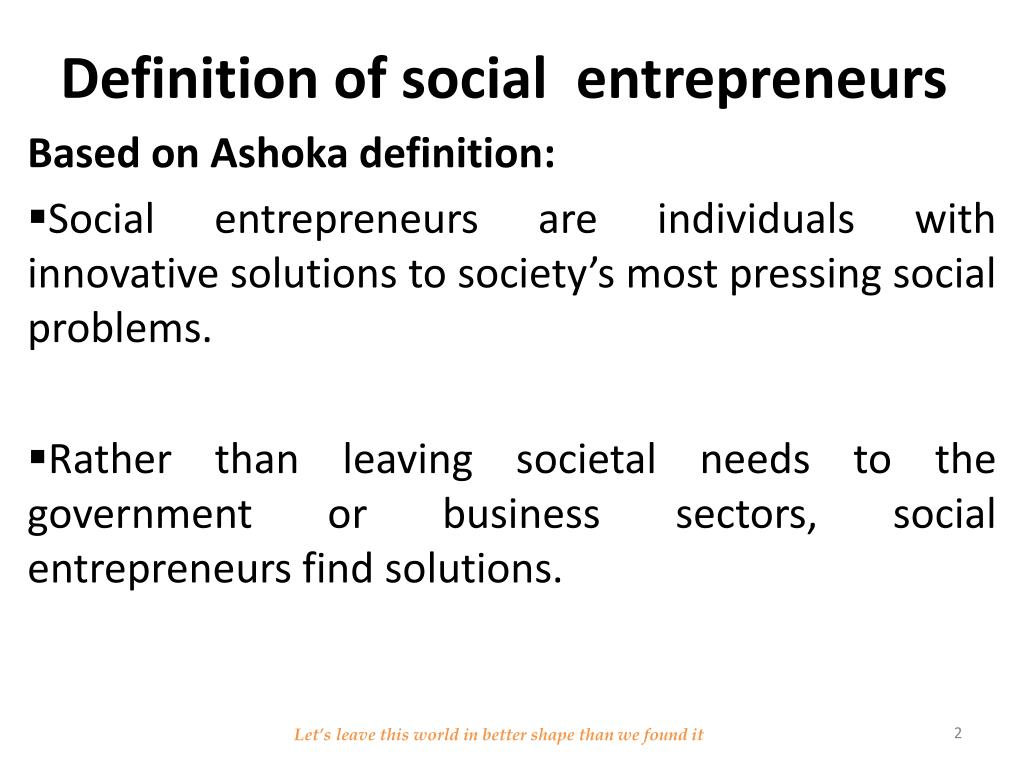 Ppt Youth Social Entrepreneurship Powerpoint
