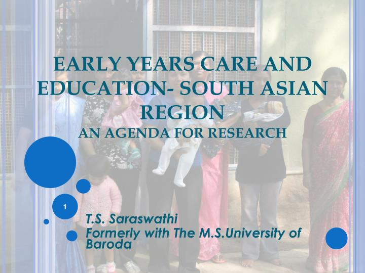 early years care and education south asian region an agenda for research n.