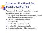 assessing emotional and social development