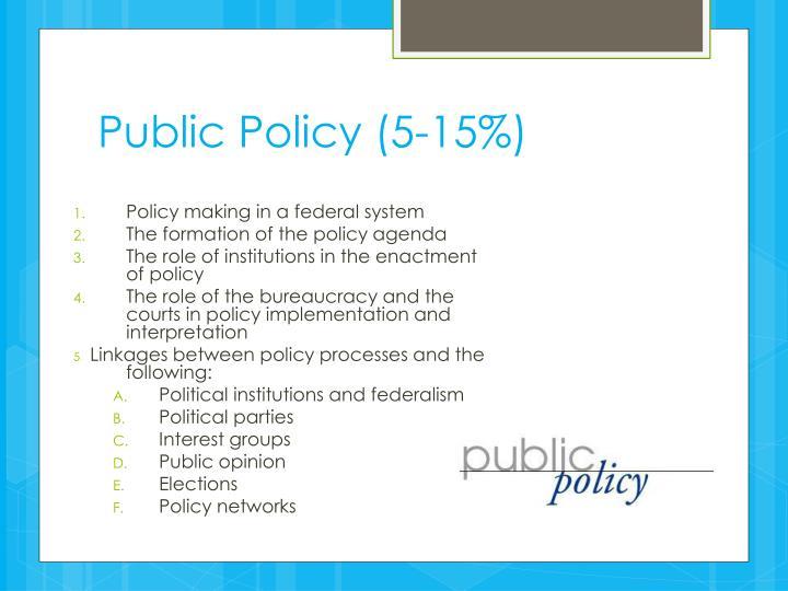 Public Policy (5-15%)