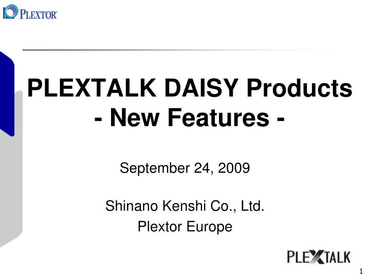 plextalk daisy products new features n.