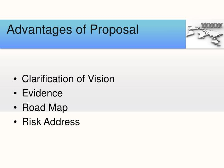 Advantages of Proposal