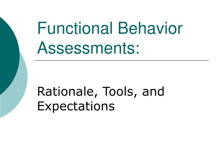 functional behavior assessments n.
