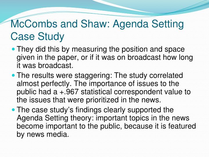 poll results and the agenda setting by the media Intermedia agenda setting in the election results of this media agenda setting and.