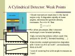 a cylindrical detector weak points