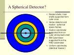 a spherical detector