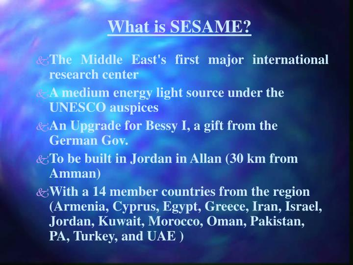 What is sesame