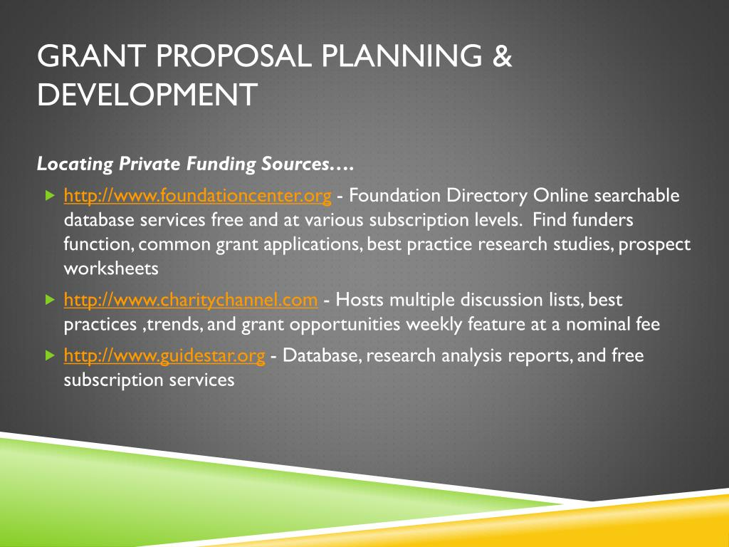 PPT - Grant Proposal Planning & Development PowerPoint