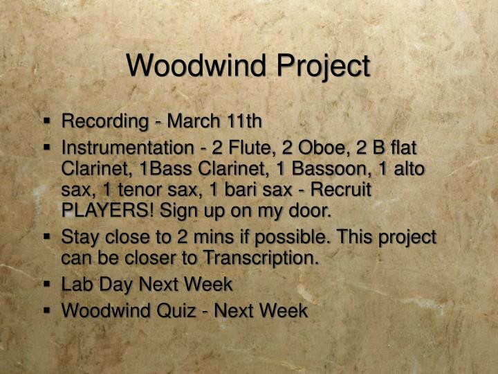 Woodwind Project
