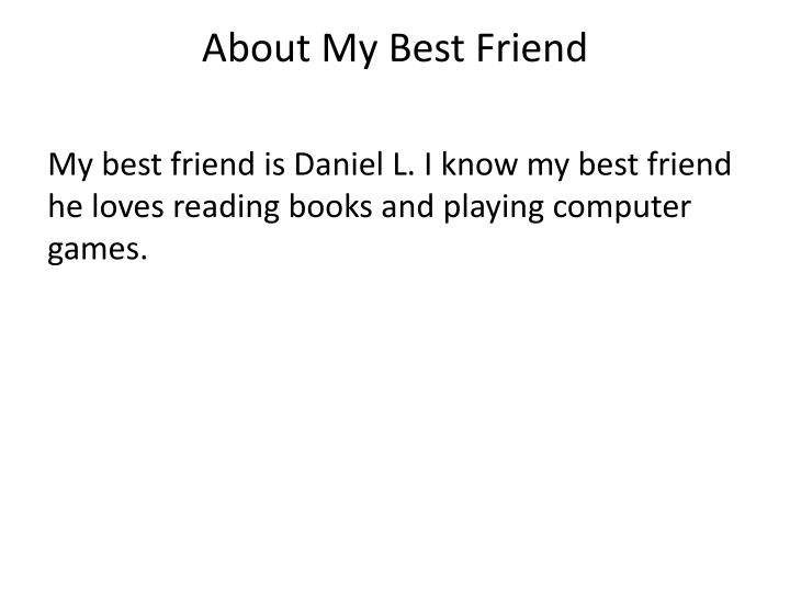 About My Best Friend