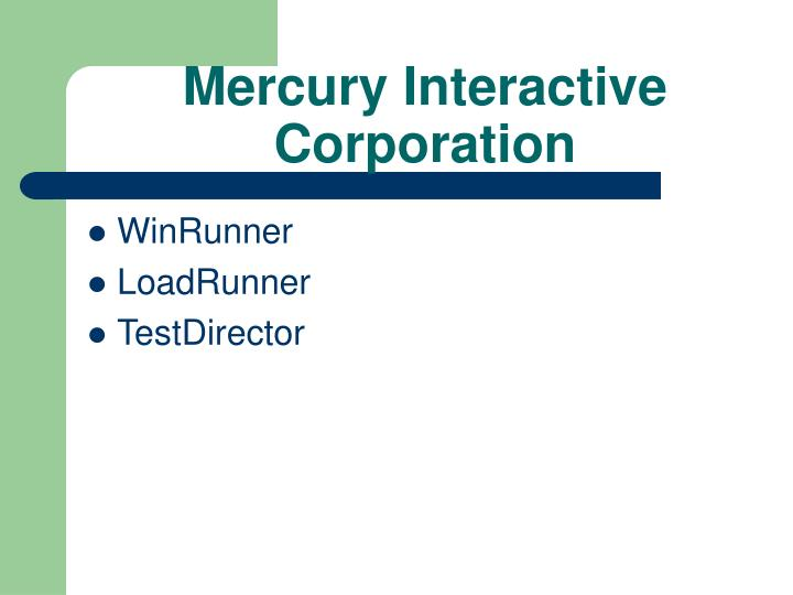 Mercury Interactive Corporation