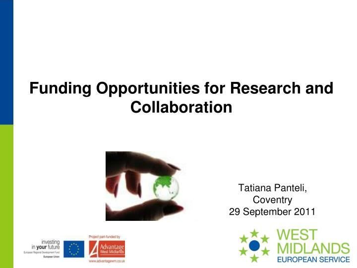 funding opportunities for research and collaboration n.