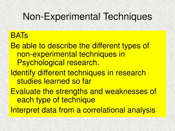 techniques in experimental research Experimental techniques publishes outstanding, original research articles in areas including, but not limited to, the following: acoustics, biological materials and systems, composite materials, computer vision/digital image correlation, sensors and data acquisition, dynamic testing and data analysis.