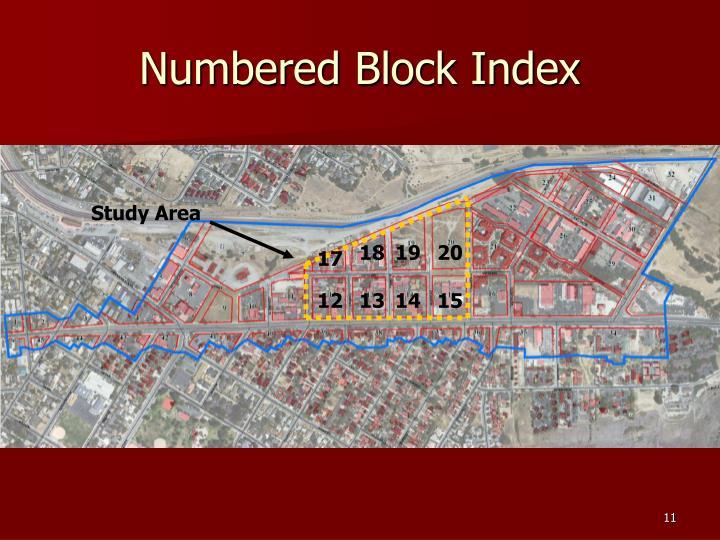 Numbered Block Index