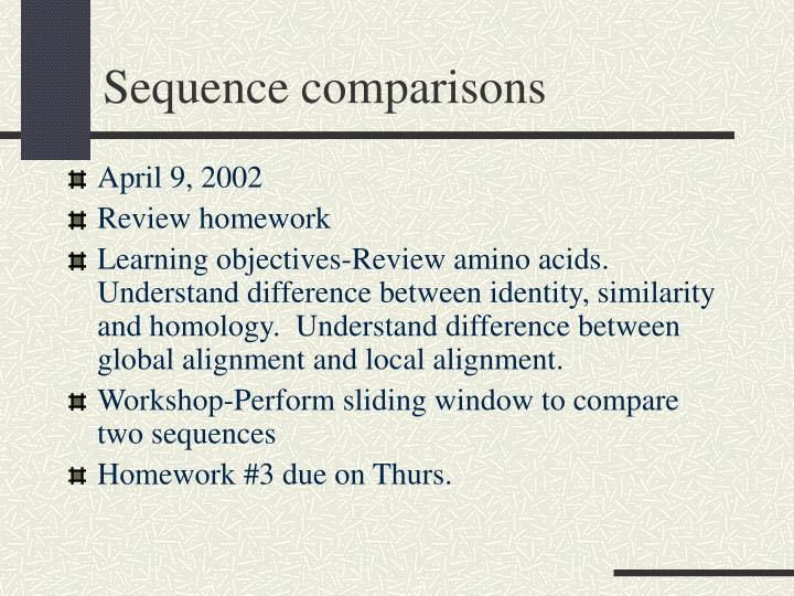 Sequence comparisons