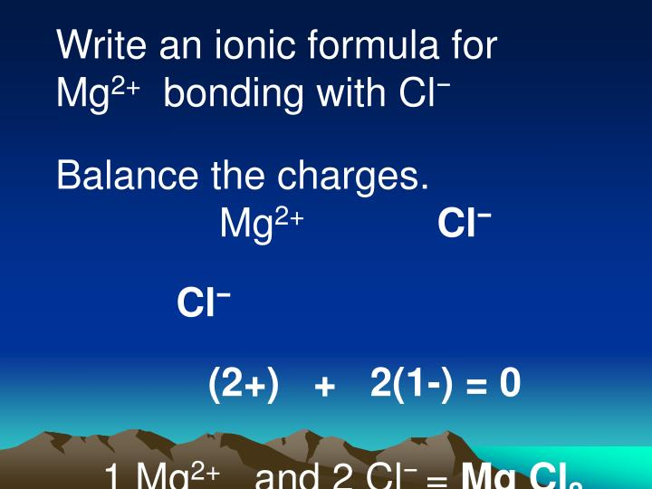 Write an ionic formula for