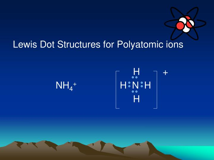 Lewis Dot Structures for Polyatomic ions