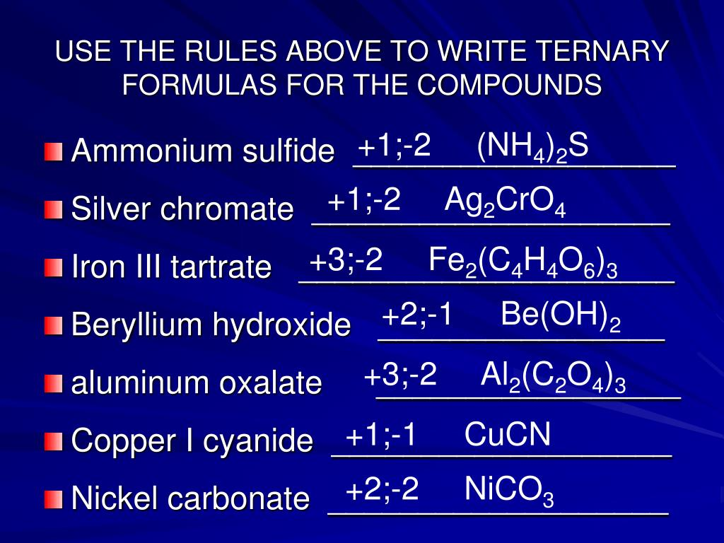 PPT - Chapter 9 Naming Compounds and Writing Formulas ...