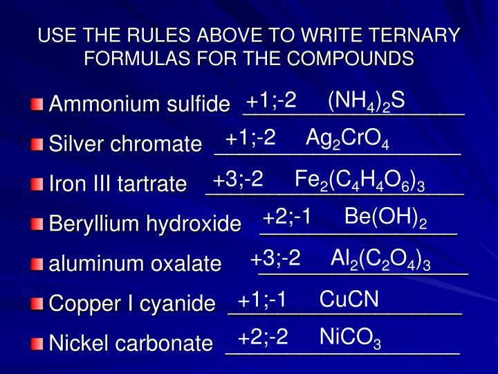 PPT - Chapter 9 Naming Compounds and Writing Formulas PowerPoint ...