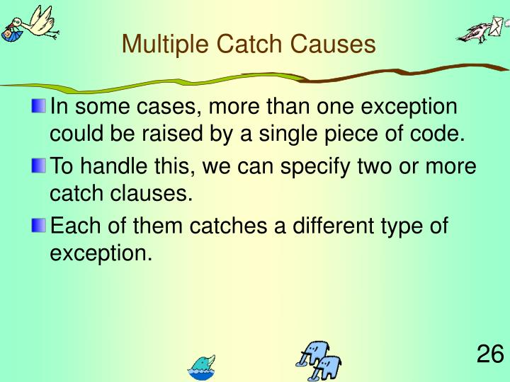 Multiple Catch Causes