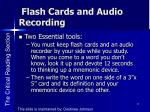 flash cards and audio recording