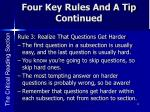 four key rules and a tip continued1