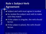 rule 1 subject verb agreement