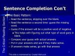 sentence completion con t