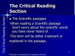 the critical reading section2