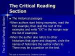 the critical reading section3