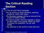 the critical reading section4