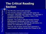 the critical reading section5