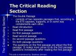 the critical reading section6