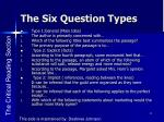 the six question types