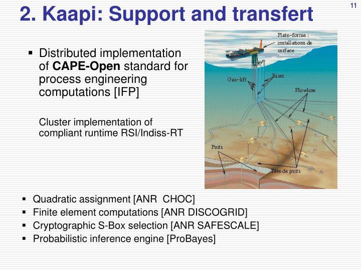 2. Kaapi: Support and transfert