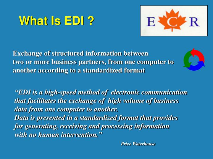 What Is EDI ?