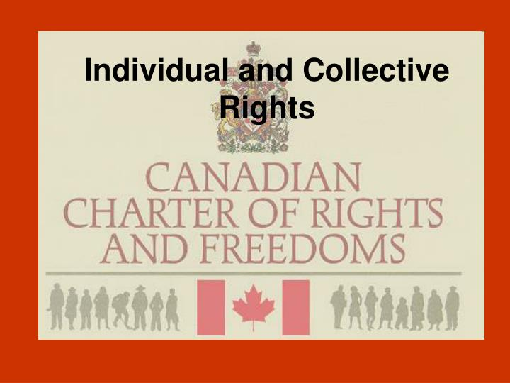 individual and collective rights n.