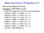base conversion examples 2 31