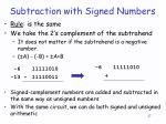 subtraction with signed numbers