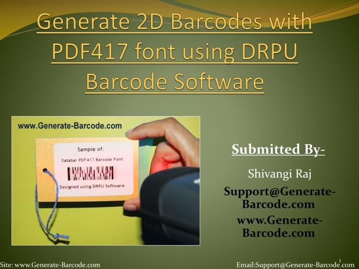 PPT - Design Barcode with PDF 417 font by using DRPU Barcode