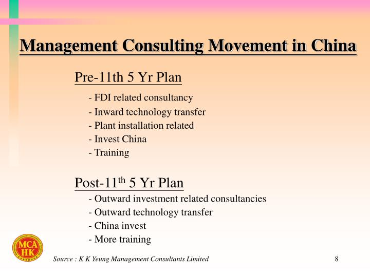 Management Consulting Movement in China