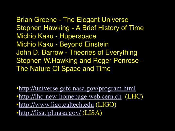 Brian Greene - The Elegant Universe