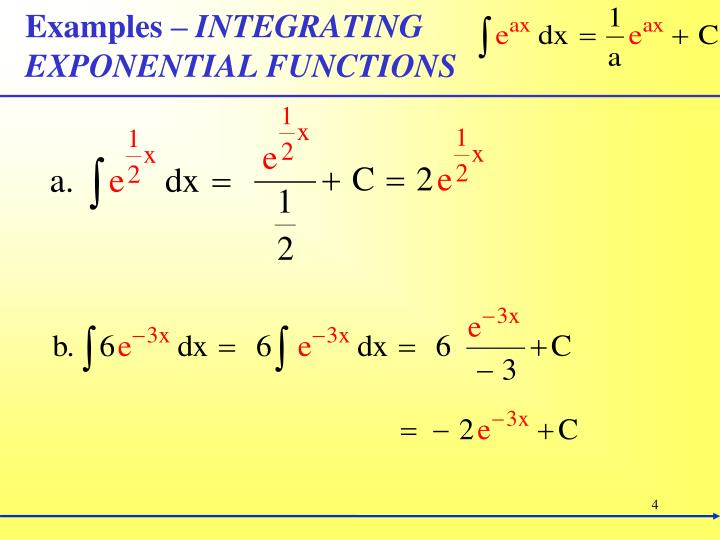 How to integrate a natural exponential function by an easy method.