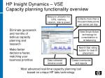 hp insight dynamics vse capacity planning functionality overview