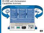 id vse with orchestration capabilities summary