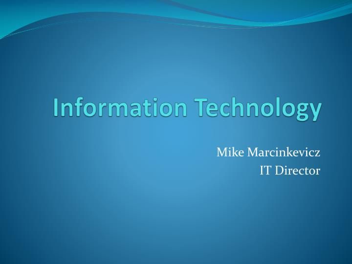 information technology n.