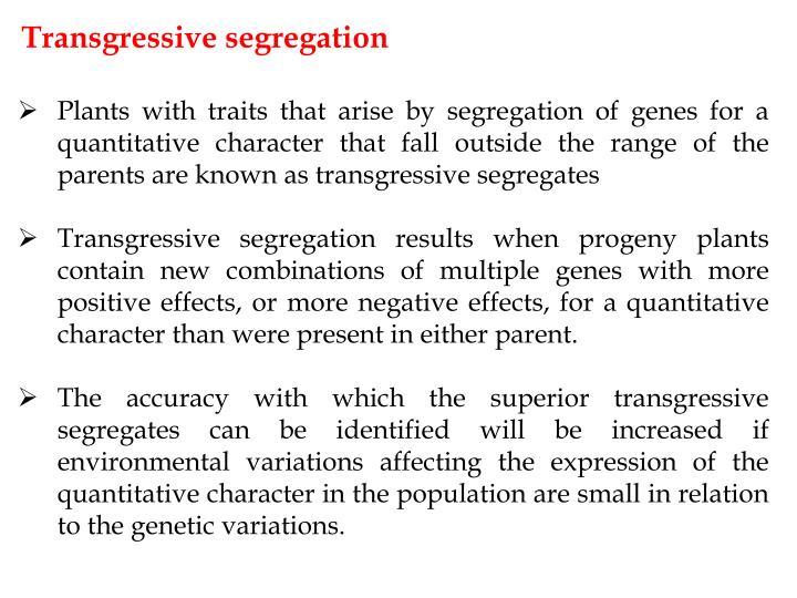 Transgressive segregation