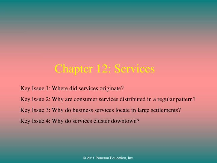 chapter 12 services n.