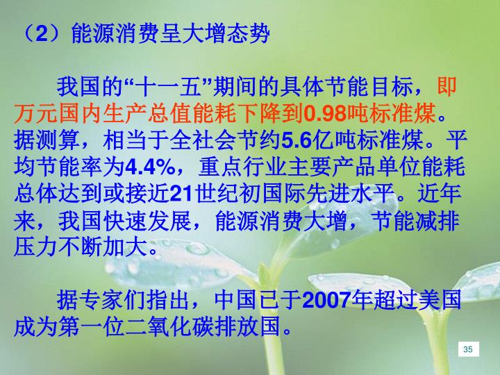 (2)能源消费呈大增态势